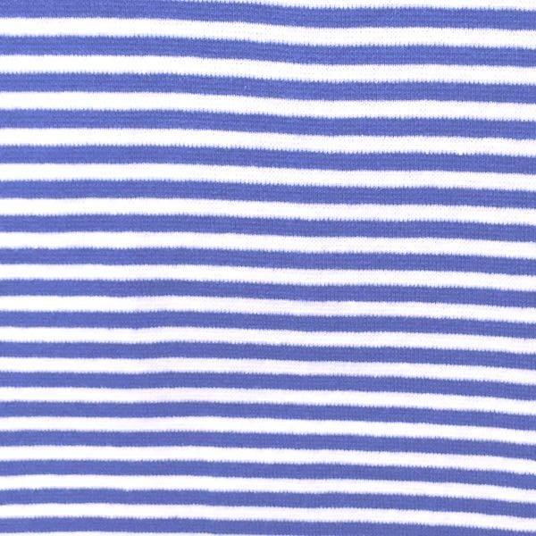 Florian, Ringelbündchen azurblau-weiß, gestreift