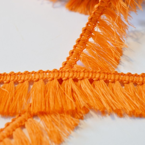Fransenborte, orange