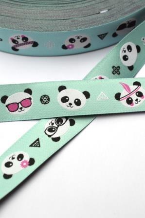 Pandas, aqua, Webband
