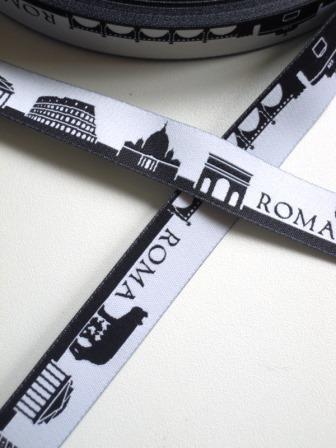 Roma Skyline, schwarz, Webband *SALE*