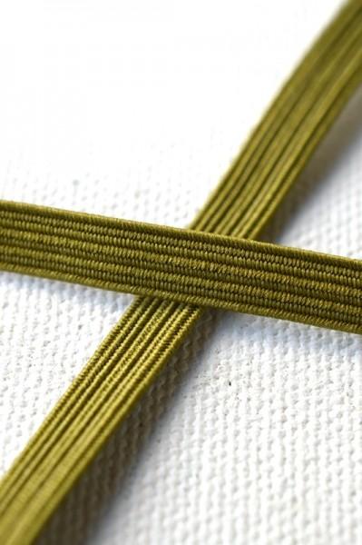Flachgummi, khaki, 6,5 mm