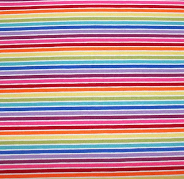 Schmaler Regenbogenjersey mit pink