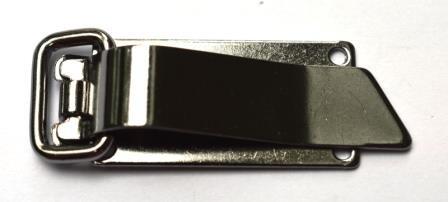 Pia, Metallverschluss, grau