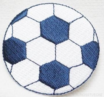 Applikation Fußball, dunkelblau