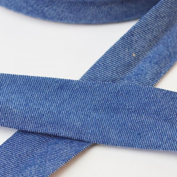 Schrägband, jeansblau mittel
