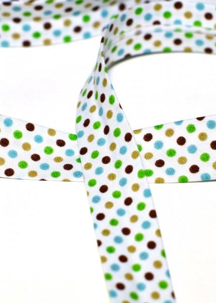 Schrägband, Cool dots, braun-grün