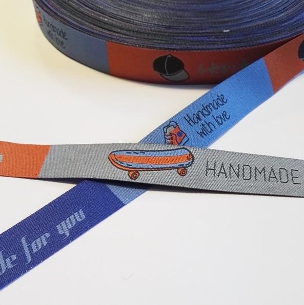 Handmade Cool Boards, blau/orange, Webband