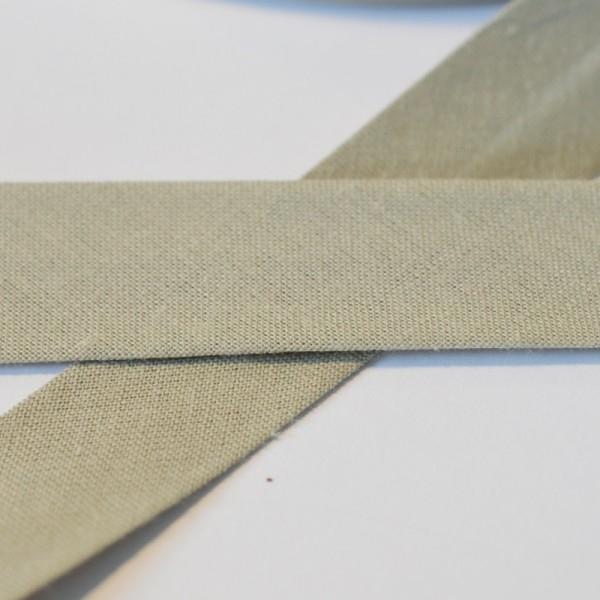 Schrägband, 20 mm, taupe