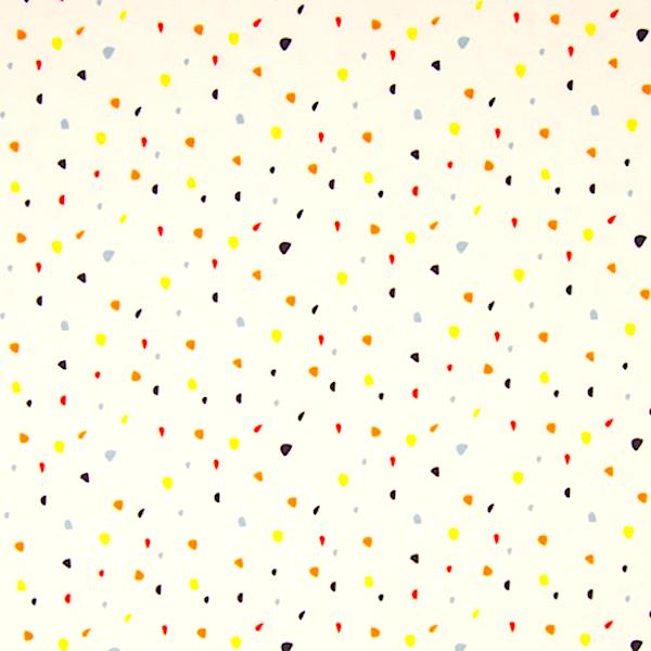 Galaxy Confetti bunt auf offwhite, Jersey