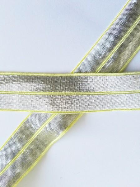 Glitzerfalzgummi, gelb-silber