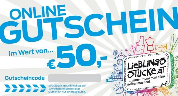 50 EUR Online Gutschein