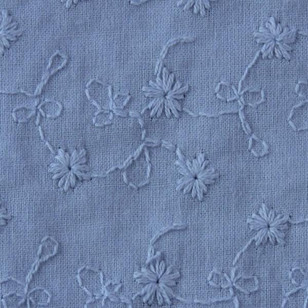 Valerie Baumwollstoff, bestickt jeansblau