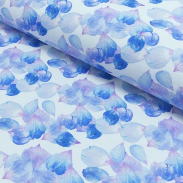 Rose Petals hellblau auf weiß, Sweat