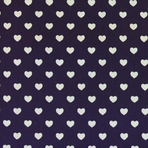 Herzen klein, violett, Webstoff