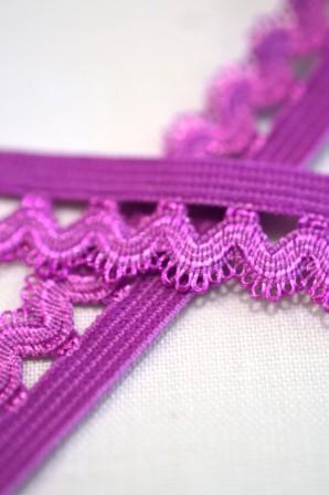 Wäschegummi, mit Welle, violett *Letzter Meter*