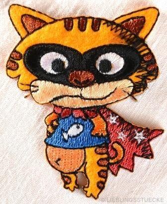 Applikation Superheld Katze