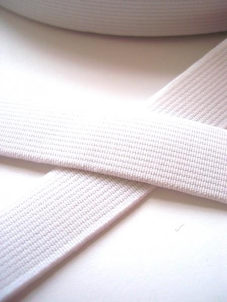 Einziehgummi, weiß, 25 mm