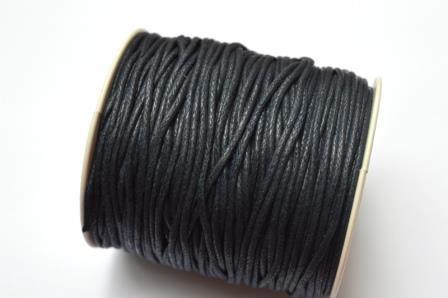 gewachste Baumwollschnur, 2mm, dunkelblau