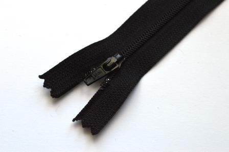 Reißverschluss, schwarz