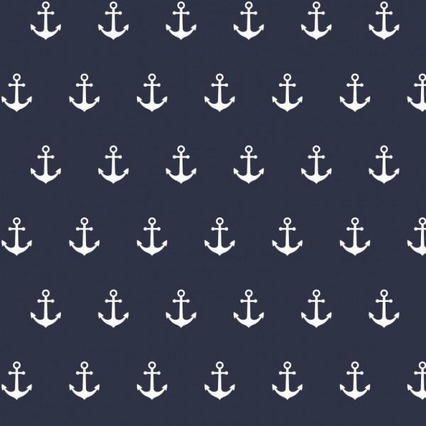 Anchor Party dunkelblau, Webstoff