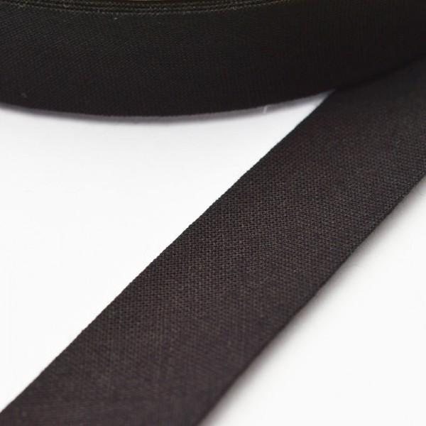 Schrägband, 20 mm, schwarz