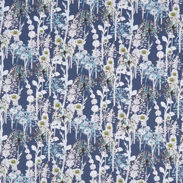 Digitaldruck Wonderflowers blau Jersey