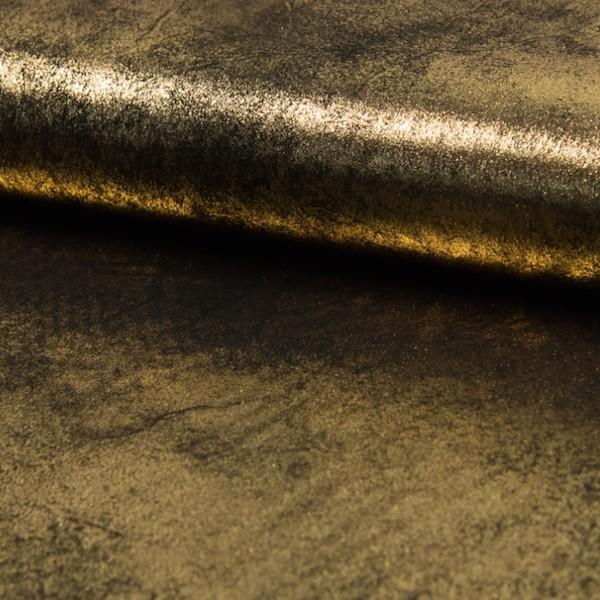 Lederimitat Space gold/schwarz