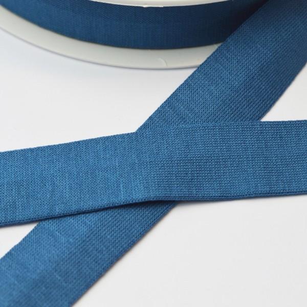 Viskosejersey-Schrägband, jeans