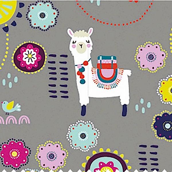 Boho-Lamas, grau, Jersey