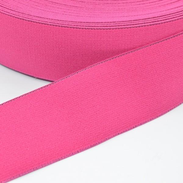 Gummiband breit, pink