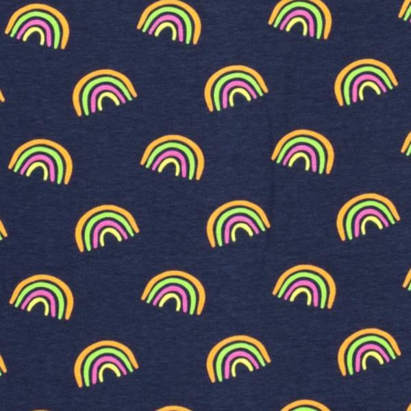 Regenbogen neon auf dunkelblau, Jersey