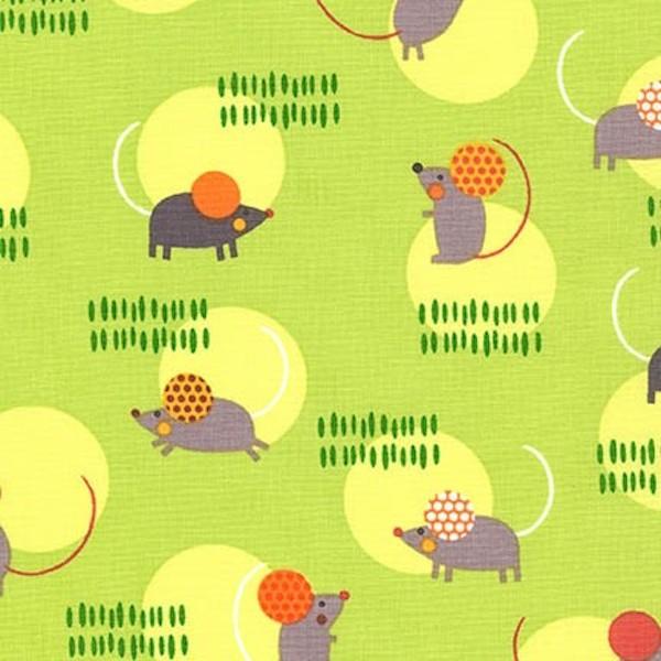R. Kaufman, Creatures & Critters Mäuse grün, *Letztes Stück ca. 100 cm*