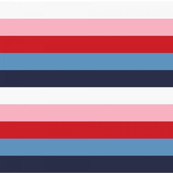 Sweat, Blockstreifen rosa/blau/weiß