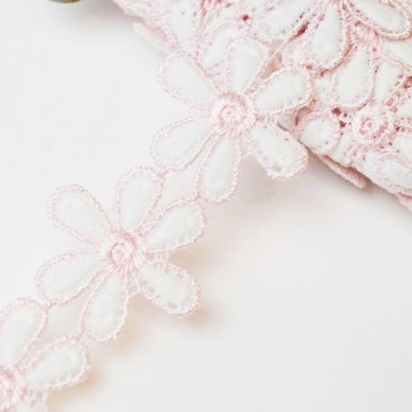 Zweifarbige Blumenspitze, rosa