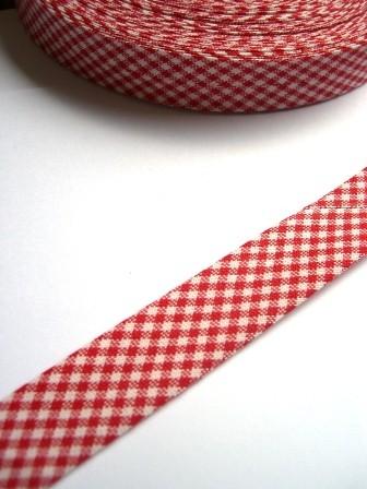 Westfalen Schrägband, karo rot-weiß