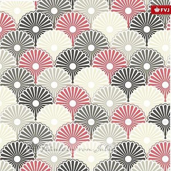 Fräulein von Julie, Flowers sand/rot/grau, Jersey