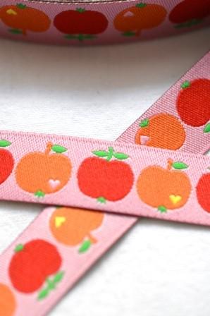 byGraziela Apfel, rot-orange, Webband