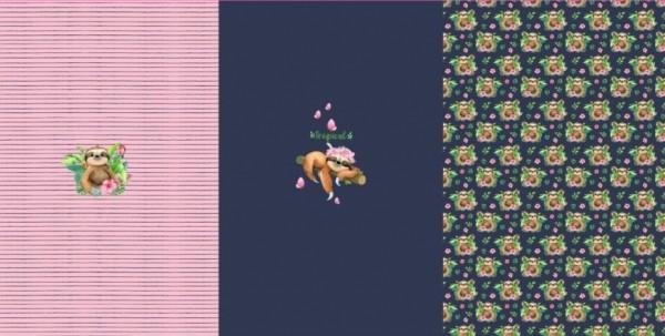 Stenzo Digitaldruck Faultier dunkelblau/rosa, Paneel, Jersey