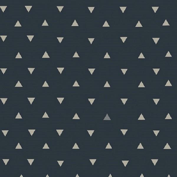 Art Gallery Observer, Triangle Tokens dunkelblau, Webstoff