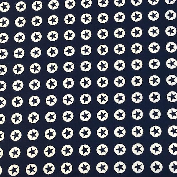 Stars and Rings, dunkelblau, Webstoff