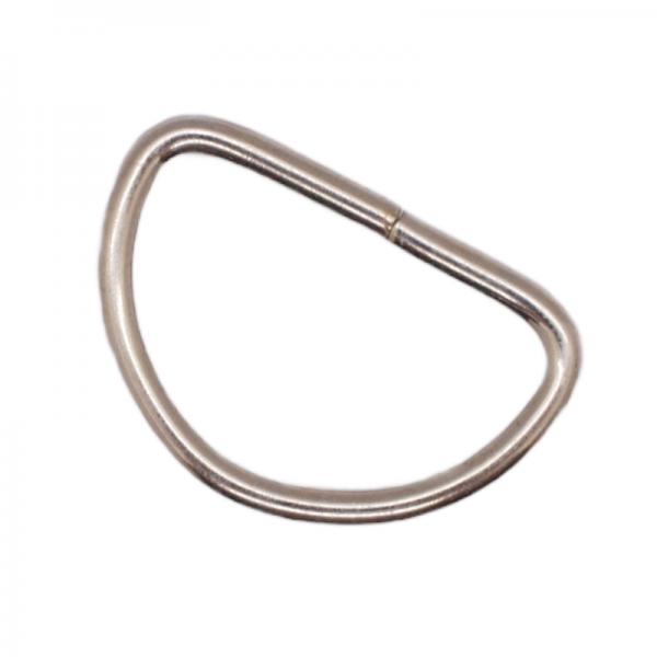 Halbring, 25 mm, nicht geschweißt, nickel