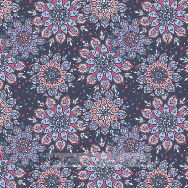 Fräulein von Julie, Mandalablüten auf blau, Sweat