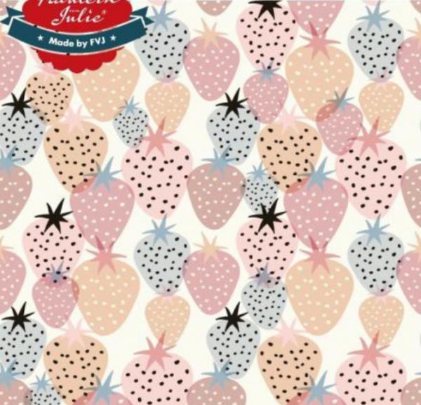 Fräulein von Julie, Erdbeeren auf weiß Jersey