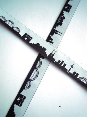 Köln Skyline, schwarz, Webband