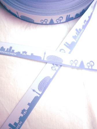 München Skyline, hellblau, Webband *SALE*