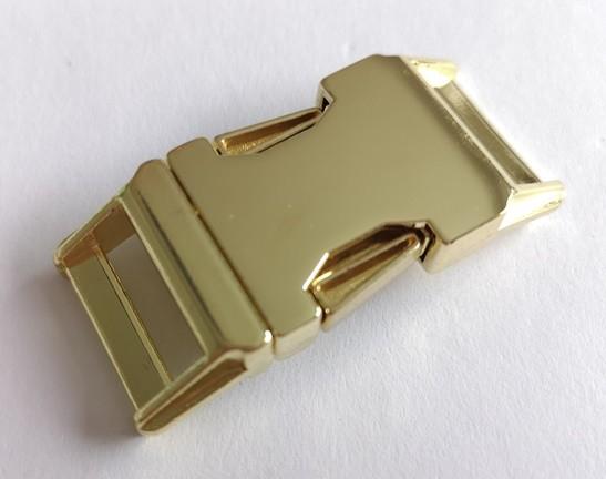 massive Metallschnalle, gold, 20 mm