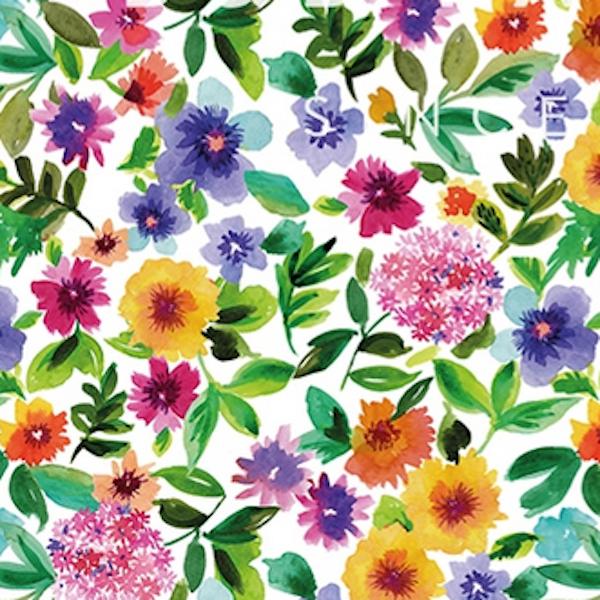 Dekostoff Sommerblumen