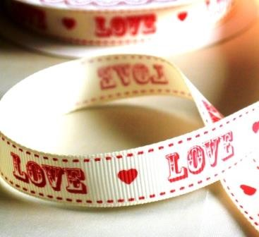 LOVE, Ripsband *SALE*