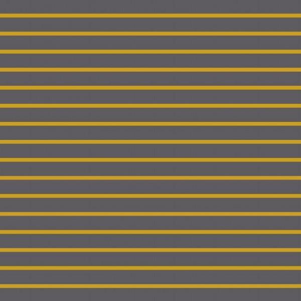 Sweat, Stripes Yarn Dyed senf auf dunkelgrau