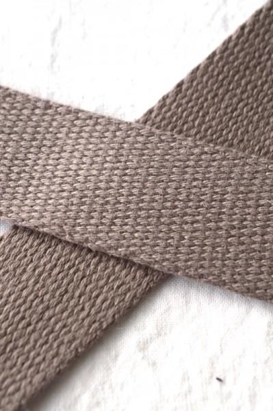 Baumwollgurtband, taupe, 3 cm